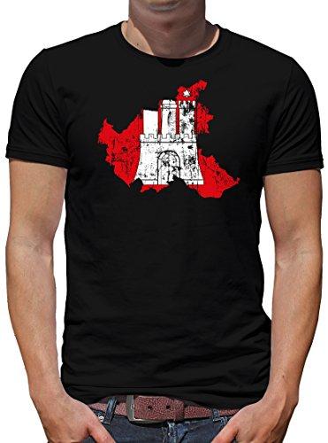 TShirt-People Hamburg Hansestadt Bundesland T-Shirt Herren M Schwarz