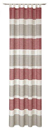 Deko Trends Calvin 30Passanti, Poliestere, Rosso, Colore: Bianco, 245x 140cm