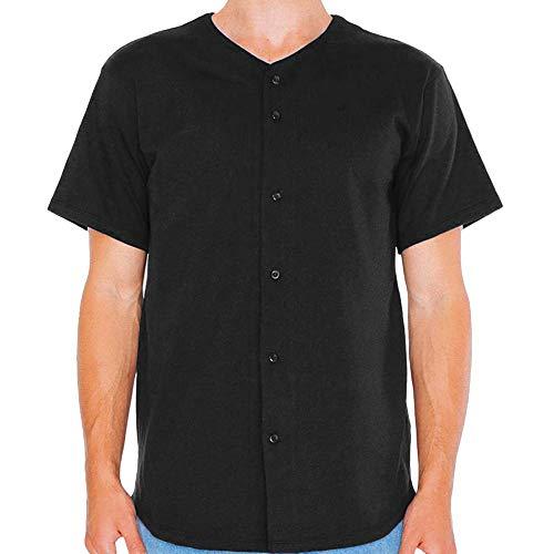 American Apparel Unisex Baseball Trikot (L) (Schwarz)