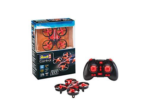 Revell Control 23823 RC Quadcopter Fizz, 4-Kanal GHz-Fernsteuerung, einfach zu fliegen, Gyro, Rotorschutz, Geschwindigkeitsstufen ferngesteuerte Drohne, rot/schwarz