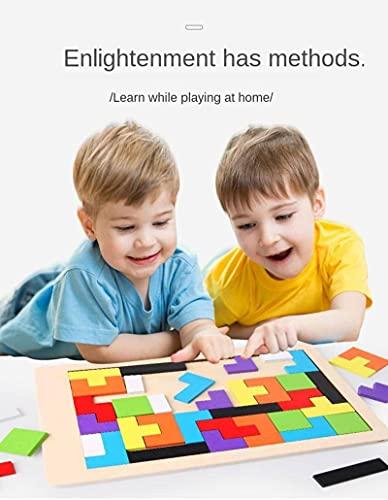 Bloques de construcción NC Tetris Juguetes educativos para niños y niñas Bloques de construcción Juguetes educativos para niños para bebés mayores de 3 años