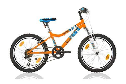 Frank Bikes 20 Zoll Kinderfahrrad Mountainbike Kinder Mädchen Jungen Fahrrad MTB Jugendfahrrad Kinderrad Rad Bike 6 Shimano Gang Federgabel Maestro ORANGE