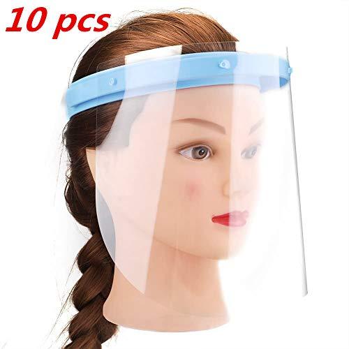 SGODDE 10 PCS Protector Facial de Seguridad, Viseras de