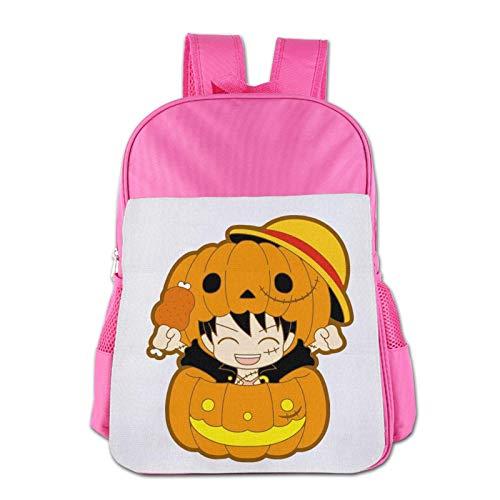 XCNGG Mochila para niños Mochila para niños Bolsos para niños JierJi Boy Bookbag For Elementary School Stylish Halloween Luffy Students Backpacks