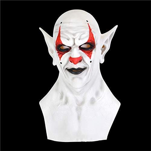 Elikliv Blanco Halloween Demonio Payaso Vampiro Orco Mscara Halloween Mscara de Diablo Careta Fiesta Novedad Disfraz Horror Cosplay Props