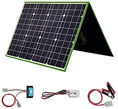 Aimtom Solarpal 100w Portable Solar Panel For Power Station Solar Generator Phone And Laptop Foldable Solar Power Charger For Camping Rv Home With Qc Usb 18v Dc Port And Solar Male Female Output