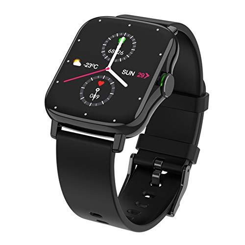 ZEIYUQI Smart Watch Men Bluetooth Call Dial Heart Health Monitor Pantalla de 1,69 Pulgadas Smartwatch para Android,TPU-Black