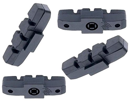 4 x Bremsgummi Bremsschuh Bremsbelag schwarz für Magura hydraulische Felgenbremse HS-11 HS-33