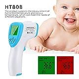 Termometro a Infrarossi senza Contatto HT-808 32~43℃ con Retroilluminazione LCD ℃ / �...