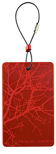 Lewis N. Clark Travel Green Luggage Tag, Branches, Orange, 1-pack