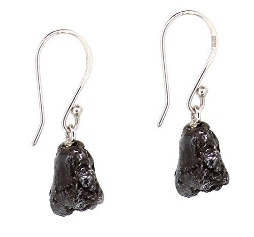 Meteorit Ohrringe'Campo del Cielo' 925er Sterling Silber, Eisenmeteorit Ohrhänger