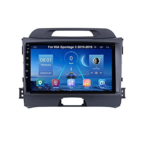Autoradio Mit Navi Apple Carplay 9 Inch Pantalla Tactil Para Coche Reproductor Para KIA Sportage 3 2010-2016 Radio Del Coche Car Player Conecta Y Reproduce Coche Audio USB Cámara Trasera