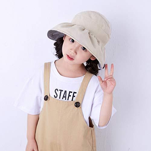 Sommerhut, leer, dünner Sonnenschutz, niedlicher Baby-Hut für koreanische Mädchen, Fischerhut 47-52CM beige