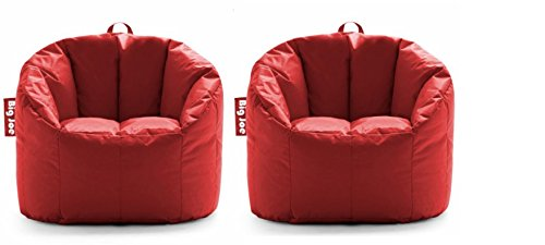 Big Joe.. Milano Bean Bag Chair (Fire Engine Red) 2pack (2)