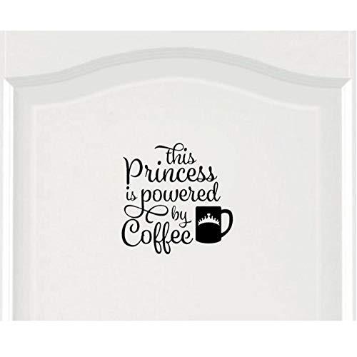 Ghgd Prinzessin Powered By Kaffee Krone Mädchen Zimmertür Aufkleber Wandtattoo 25 * 25 Cm
