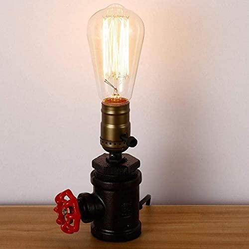 HFDDF Lámpara De Mesa De Loft De Iluminación, Lámpara De Mesa con Base De Metal Antiguo Industrial Vintage con Interruptor Decorativo para Lámpara De Mesa De Bar Cafetería, Lámpara De Mesa