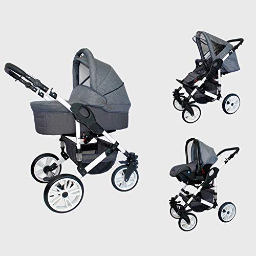 Cochecito bebe 3 piezas X-Trall BBtwin carro trio (lino gris)