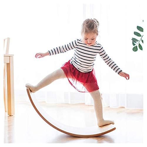 Balance Board, Wobble Balance Board aus Holz in Holzspielzeug Big Curved Board Balance Board Training Ermöglicht die Unterstützung von 220 kg