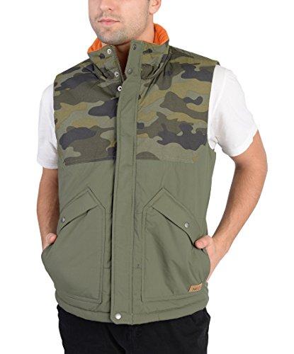 Adidas Mens Camo Padded Jacket Vest Army Green L