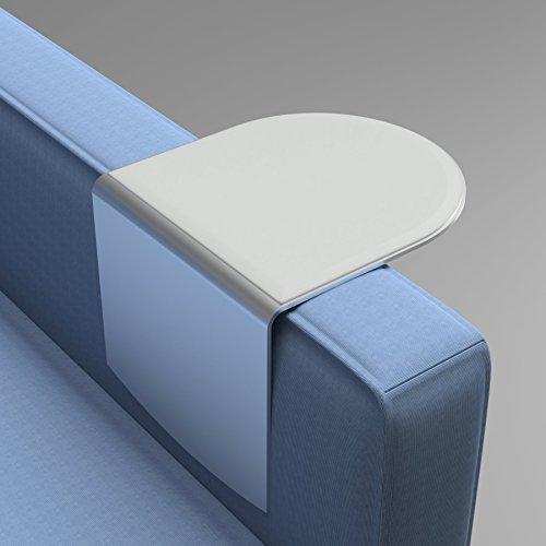 Wingz Table – Modern Aluminum Armrest Table (3-5, Light Gray Cover)