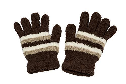 ReiTrade 2 paia (4 pezzi) di guanti confortevoli e piacevolmente morbidi. marrone Taglia unica