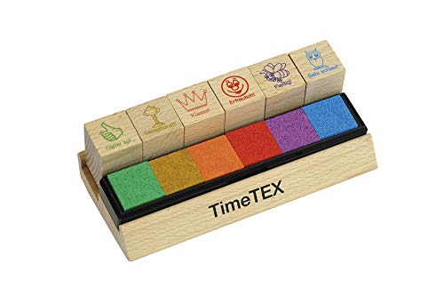 """TimeTex Lehrer-Stempel\""""Motivation\"""", Holz"""
