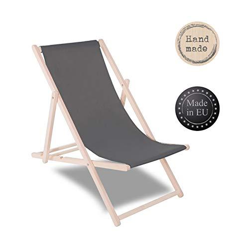 SPRINGOS Liegestuhl Sonnenliege Gartenliege klappbar Relaxsessel Klappstuhl Relaxliege Freizeitliege (Graphit)