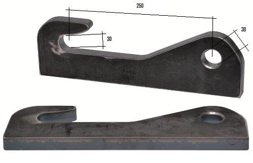 Joma-Tech Koppelhaken für Kramer Radlader 30x30x250mm, Anbaukonsolen, Lader