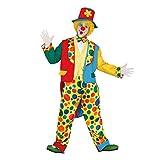 Guirca- Costume da Pagliaccio Clown per Adulti, Taglia Unica, 84368