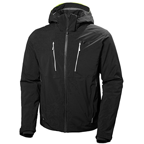 Helly-Hansen Men's Alpha 3.0 Waterproof Insulated Ski Jacket, Black, X-Large