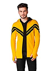 Le Boureois Mens Cotton Full Sleeve Hooded Cardigan
