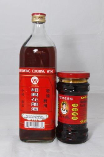 1x Shaoxing Cooking Wine 24.4oz. 1x Chili Black Bean Sauce 9.88oz