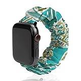 Cinturino per Apple Watch, cinturino elastico, cinturino di ricambio per iWatch Series 6/5/4/3/2/1-PINE O'Clock Tropical Whimsical Watercolor
