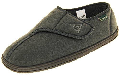 Dunlop Zapatillas De Estar por Casa De Hombre Toque de Fijación Fieltro Gris EU 44
