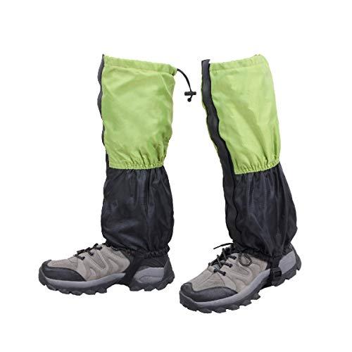 Azarxis Outdoor Gamaschen, wasserdichte und Leichte Gamaschen Kinder Gaiter Beinschutz für Outdoor Klettern Jagd Radfahren (Grün&Schwarz)