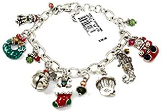 Brighton Holly Christmas Charm Bracelet