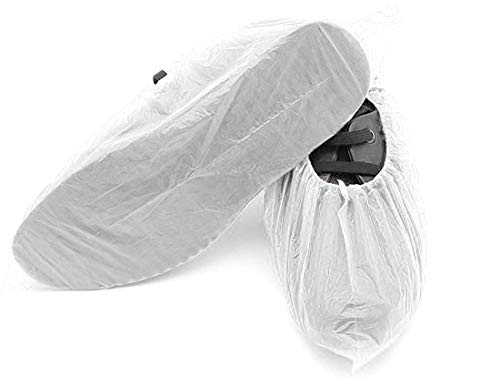 100 Pack of Disposable Shoe Covers. White...