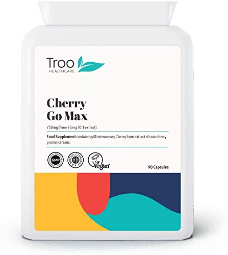 Cherry Go 550mg 60 Capsules - 100% Pure Freeze Dried Montorency Cherries