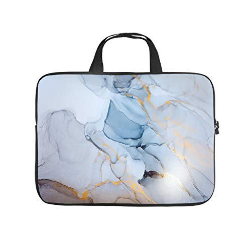 Normal Marble Texture Ink Laptop Bags Patterned Large - Modern Style Tablet Cases Suitable for Business Trip