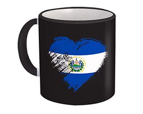 Corazón salvadoreño : Taza de Regalo : Bandera de expatriados del país de El Salvador
