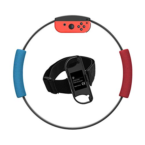 With Adventure Accessories Body Sensor Sports, and Bandage Yoga Fitness Ring,Ring Con and Leg Strap for Switch Ring Fit Adventure Game NS Ring and Elastic Movement Band Compatible (No Game Include)