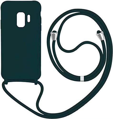 1stfee Compatible con Funda para Samsung Galaxy S9 teléfono móvil con cordón Gel de sílice TPU Diseño de Protección Anti-Shock Cover.