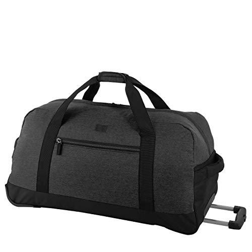 Rada Reisetasche RT 32 L 82 Liter mit Rollen und ausziehbarem Teleskopgestänge, wasserabweisend für Jungen und Mädchen, Reisetasche perfekt für den Urlaub (Maße: 38x75x37cm) (Anthra schwarz)