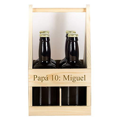 Regalo personalizado: pack de cervezas en estuche de madera personalizado