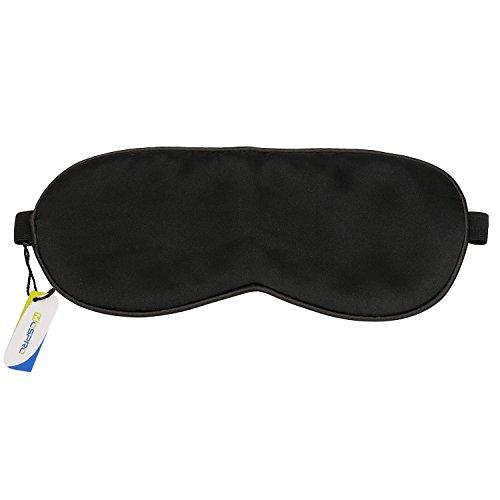 100% Pure Silk Sleep Mask, Super Lightweight Soft & Comfortable Eye Bags & Meditation Blindfold - For Travel, Shift Work & Meditation - Help Men Women & Kids Sleep Better by HOMETEK
