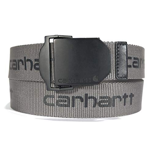 Carhartt Herren-Gürtel, Herren, Gürtel, Signature Webbing Belt, Signature Steel/Black, Medium