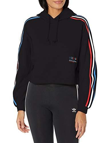 adidas Originals Hoodie Sudadera con Capucha, Negro, XL para Mujer