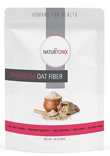 Naturtonix Premium Oat Fiber, Ultra Finely Ground, Non GMO, Vegan, Gluten Free, OU Kosher and Keto Friendly, Made in the USA 1 Pound