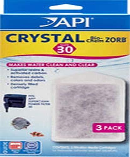 API Crystal Bio-Chem Zorb Size 5-20 Aquarium Filtration Media Cartridges for SuperClean 30 Filters 3Count Box