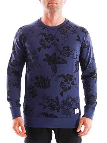 O\'Neill Sweatshirt Oberteil Sweatpulli Lost Coast blau Blumenprint (M)